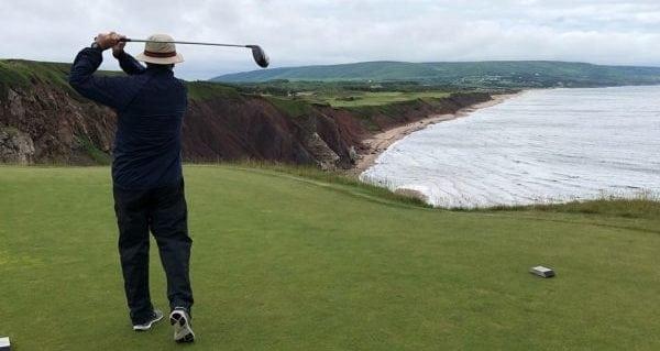 A seagoing golfer's dream